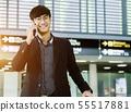 Elegant asian businessman checking email on mobile 55517881