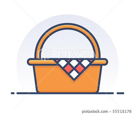 Picnic basket. 55518176