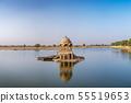 Gadisar lake in the morning at Jaisalmer. 55519653