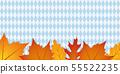 autumn leaves on bavaria flag texture background 55522235