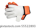 isolated goalkeeper glove on white background 55522893