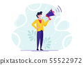character  manager with bullhorn 55522972