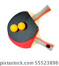 Ping-pong rackets isolated on white background. 55523896