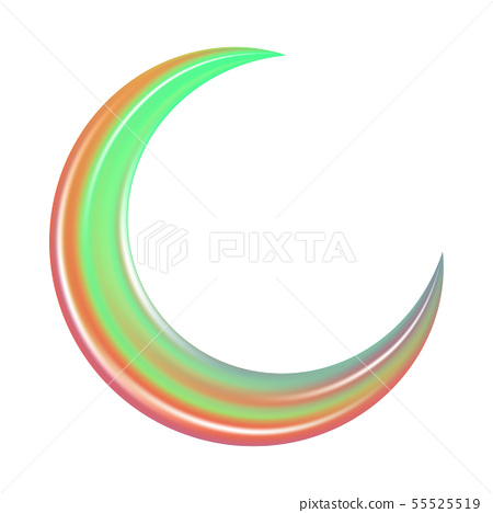 Crescent in abstract style. Astronomy science 55525519