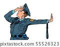 Caucasian police officer shame denial gesture no 55526323