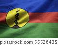 Closeup of Ruffled New Caledonia Flag 55526435