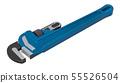 Plumber Wrench, 3D rendering 55526504