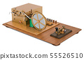 Morse code telegraphy device, 3D rendering 55526510