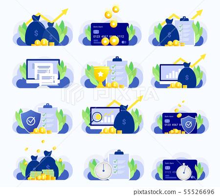 Set of business illustrations. 55526696
