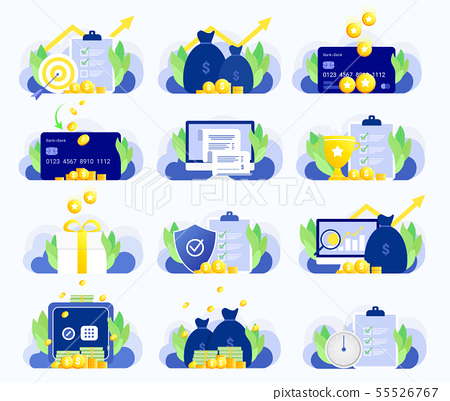 Set of business illustrations. 55526767
