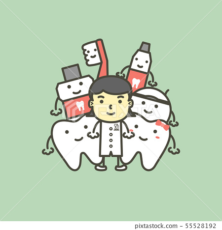 dentist and best friend of tooth healthy family 55528192
