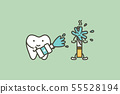 cleaning tooth by mouthwash - cigarette stain 55528194