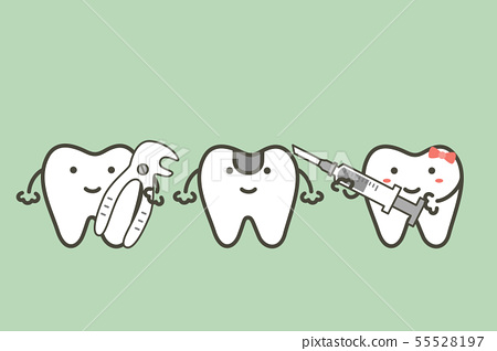 teeth hold dental tools for tooth extraction 55528197