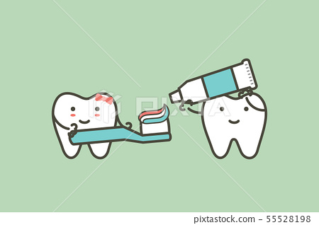 healthy couples tooth are brushing teeth 55528198