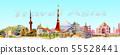Travel landmark architecture Asia. 55528441