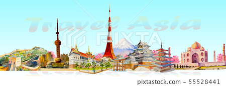 Travel landmark architecture Asia. 55528441