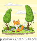 Cute Cartoon Fox 55530720