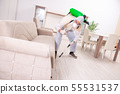 Pest control contractor working in the flat 55531537