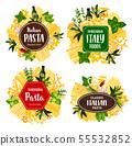 Pasta, spaghetti, macarroni, Italian spices, herbs 55532852