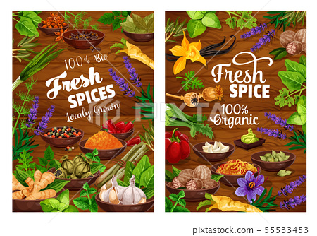 Spices, green herbs, vegetable and seasonings 55533453