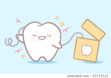 tooth with clean concept 55533524
