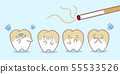 cartoon tooth with smoke problem 55533526