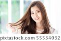 女性棕色头发 55534032