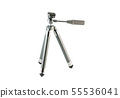 Tripod stand on the white background. 55536041