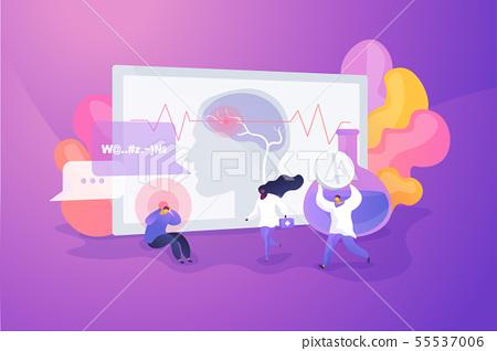 Stroke concept vector illustration 55537006