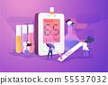 Diabetes mellitus concept vector illustration 55537032