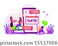Cyberbullying concept vector illustration 55537066