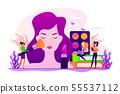 Makeup courses concept vector illustration 55537112