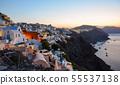 Night scene of Santorini Island, Greece 55537138