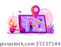 Food delivery service concept vector illustration. 55537144