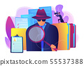 Private investigation concept vector illustration 55537388