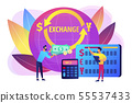 Currency exchange concept vector illustration 55537433