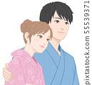 Yukata约会看着天空的两个人 55539371