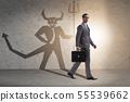 Devil hiding in the businessman - alter ego concept 55539662