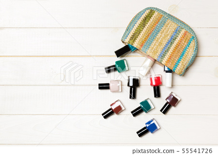 Woman cosmetic bag with manicure and pedicure, 55541726