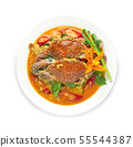 Stir fried Crab in curry powder sauce and egg 55544387