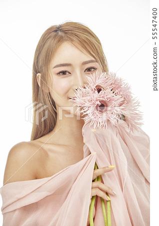 꽃,뷰티,젊은여자 55547400