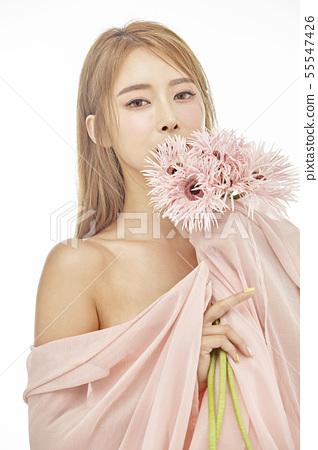 꽃,뷰티,젊은여자 55547426