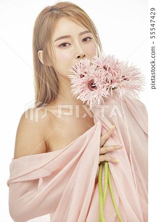 꽃,뷰티,젊은여자 55547429