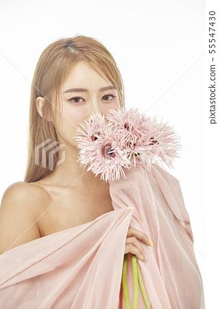 꽃,뷰티,젊은여자 55547430