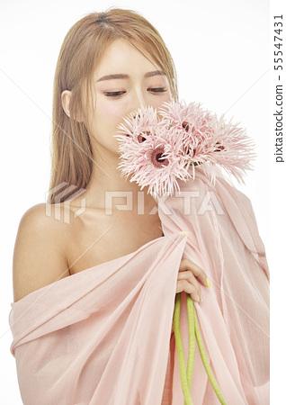 꽃,뷰티,젊은여자 55547431