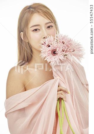 꽃,뷰티,젊은여자 55547433