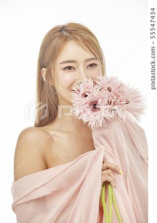 꽃,뷰티,젊은여자 55547434