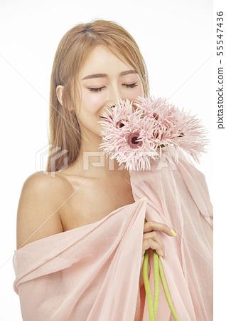 꽃,뷰티,젊은여자 55547436