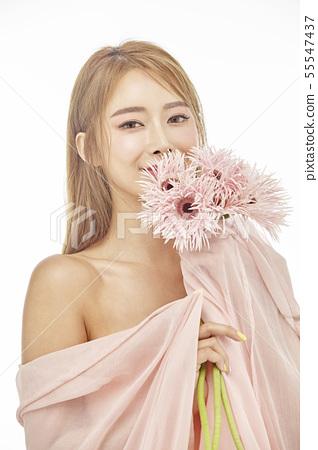 꽃,뷰티,젊은여자 55547437
