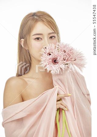 꽃,뷰티,젊은여자 55547438